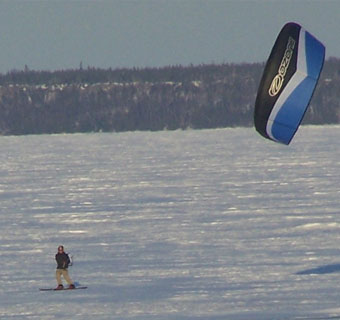 Kite Skiing on Black Bay